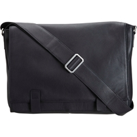 Barneys New York Sleek Messenger Bag Black