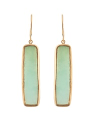 Pippa Small Chrysoprase And Yellow Gold Earrings