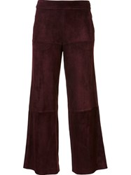 Derek Lam Cropped Trousers Red