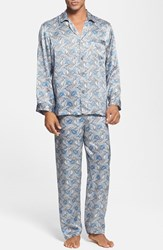 Men's Majestic International 'Cypress' Silk Pajamas Sky Blue