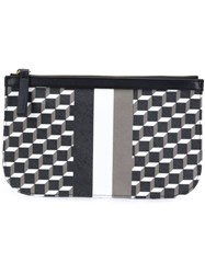 Pierre Hardy Mini Cube Stripe Design Clutch Black