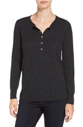 James Perse Women's Thermal Henley Cashmere Sweater