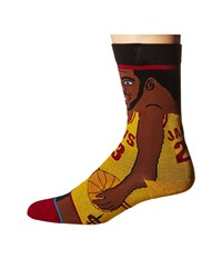 Stance L. James Yellow Men's Crew Cut Socks Shoes