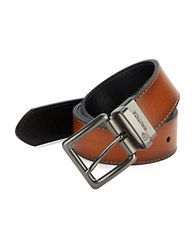 Nautica Coated Leather Belt Tan Black