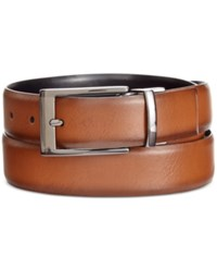 Alfani Men's Big And Tall Feather Edge Reversible Belt Only At Macy's Tan Black
