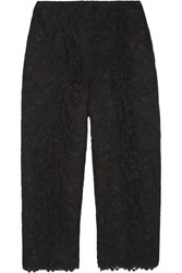 Valentino Cropped Lace Pants Black