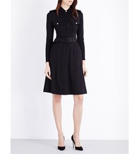 Moandco. Military Jersey Shirt Dress Black