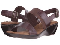 Walking Cradles Climb Tobacco Leather Women's Sandals Brown