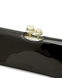 Ted Baker Odd Bauble Patent Matinee Wallet Black