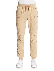 American Stitch Twill Cargo Jogger Pants Beige