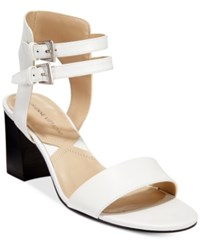 Adrienne Vittadini Palti Sandals Women's Shoes White