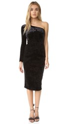 Black Halo Fonda Velvet Dress Black