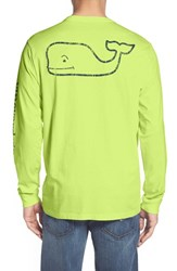 Vineyard Vines Men's Pocket Long Sleeve T Shirt Tart Apple