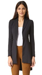 Alice Olivia Jordyn Collared Back Pleat Blazer Black