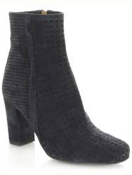 Daniel Rosemead Perforated Ankle Boots Navy