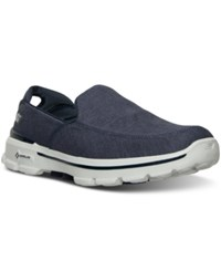 Skechers Men's Gowalk 3 Linen Walking Sneakers From Finish Line Navy