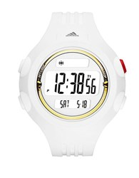 Adidas Questra White And Gold Large Polyurethane Watch