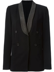 Brunello Cucinelli Metallic Lapel Blazer Black