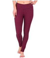 Prana Misty Legging Viola Jacquard Women's Workout Red