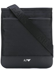 Armani Jeans Classic Messenger Bag Black