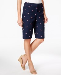 Charter Club Whale Embroidered Shorts Only At Macy's Intrepid Blue