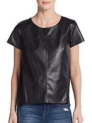 Bailey 44 Calessino Faux Leather Tee Black