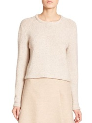 Akris Cashmere Wool Reverse Stitch Sweater Birch