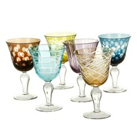Pols Potten Mixed Cuttings Wine Glasses Set Of 6