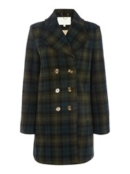 Little White Lies Long Sleeved Check Coat Green