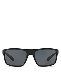 Prada Linea Rossa Rectangle Wrap Sunglasses Black