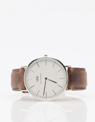 Daniel Wellington Classic St. Andrews In Silver Brown
