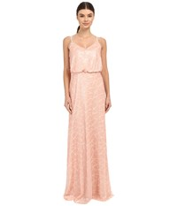 Donna Morgan Blouson Sequin Gown Posy Women's Dress Pink