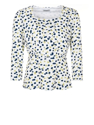 Eastex Mini Painterly Spot Jersey Top White