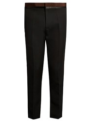 Haider Ackermann Slim Leg Wool Trousers Black