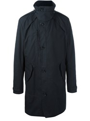 Hope Buttoned Mid Trench Coat Blue