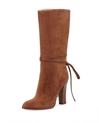 Jade Suede Mid Calf Boot Cinnamon Sjp By Sarah Jessica Parker