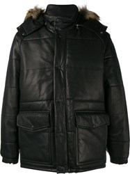 Our Legacy Padded Leather Jacket Black