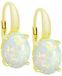 Victoria Townsend Opal Drop Earrings 3 Ct. T.W. In 18K Gold Plated Sterling Silver