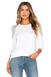 Twenty Touch Terry Colorblock Top White