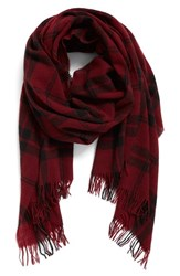 Eileen Fisher Women's Soft Wool And Cashmere Plaid Scarf Raisonette