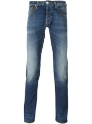 Armani Jeans Stone Washed Skinny Jeans Blue