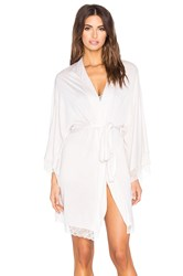 Eberjey Enchanted Kimono Robe Light Gray