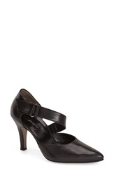 Paul Green 'Desire' Pointy Toe D'orsay Pump Women Black Leather