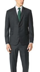 Brooklyn Tailors Super 110 Wool Suit Jacket Deep Charcoal