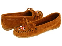 Minnetonka Thunderbird Ii Brown Suede Women's Moccasin Shoes