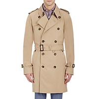 Aquascutum London Men's Double Breasted Belted Trench Coat Tan