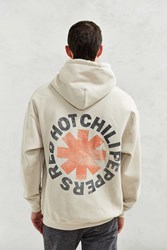 Urban Outfitters Red Hot Chili Peppers Hooded Sweatshirt Beige