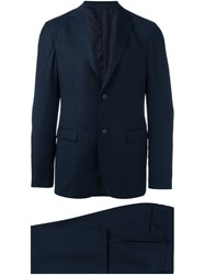 Z Zegna Fitted Business Suit Blue
