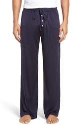 Daniel Buchler Men's Luxe Silk Lounge Pants Navy