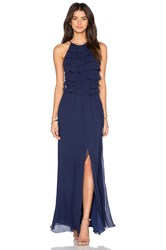 L'agence Adriana Maxi Dress Navy